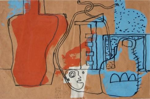 Le Corbusier, Chitarra, brocca e corda, 1962, collage, cm 22x34 © Fondation Le Corbusier by SIAE 2013