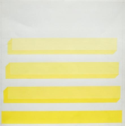 Dadamaino, Deformazioni spaziali, 1975, tempera su cartoncino, cm 31.9x31.9