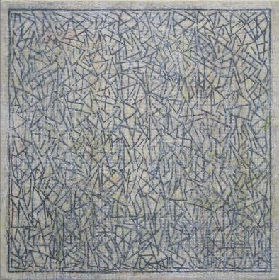 SERGI BARNILS, Revelaciò, 2012, tecnica mista su tela, cm 50x50
