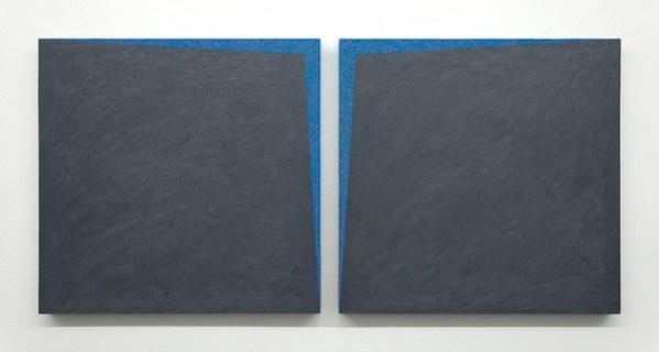 Ignazio Gadaleta, Stellare, 1990, olio su tavola, cm 50.5x104.5x3.5