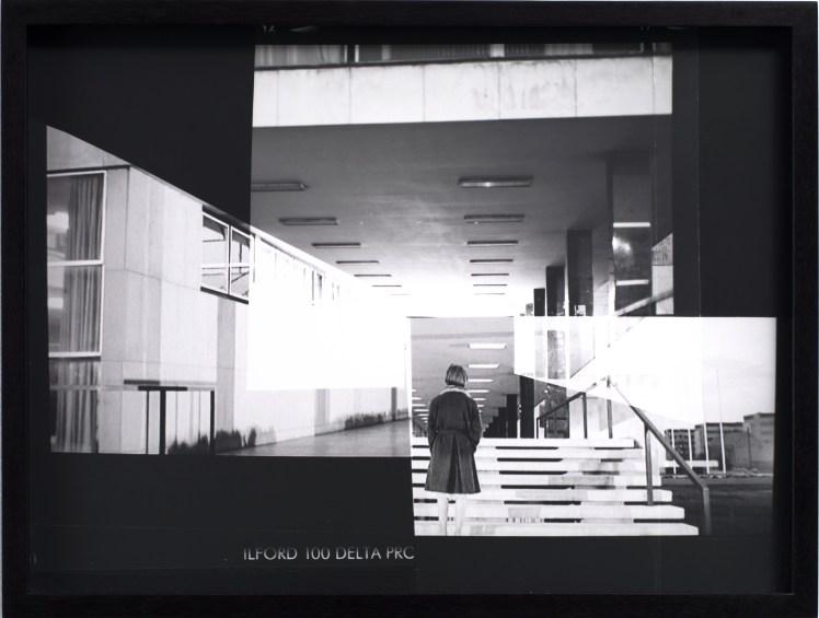 David Maljkovic, Recalling Frames, 2010 Stampa b/n da collage su negativo 31,8 x 42 cm (incorniciata) © David Maljkovic Courtesy l'artista e Sprüth Magers, Berlino Londra