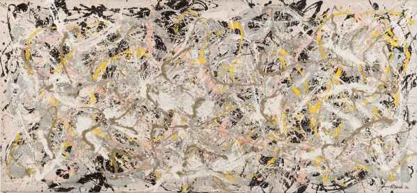 Jackson Pollock Number 27, 1950, olio, smalto e pittura di alluminio su tela, cm 124.6x269.4, Whitney Museum of American Art, New York © 2013 The Pollock-Krasner Foundation / Artists Rights Society (ARS), New York Foto di Sheldan C. Collins