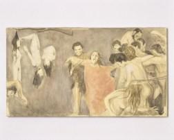 Adrian Paci Secondo Pasolini (Decameron) dettaglio 2006 12 gouaches su carta montate su tela cm 38 x 70 cad courtesy dell'artista e di kaufmann repetto, milano