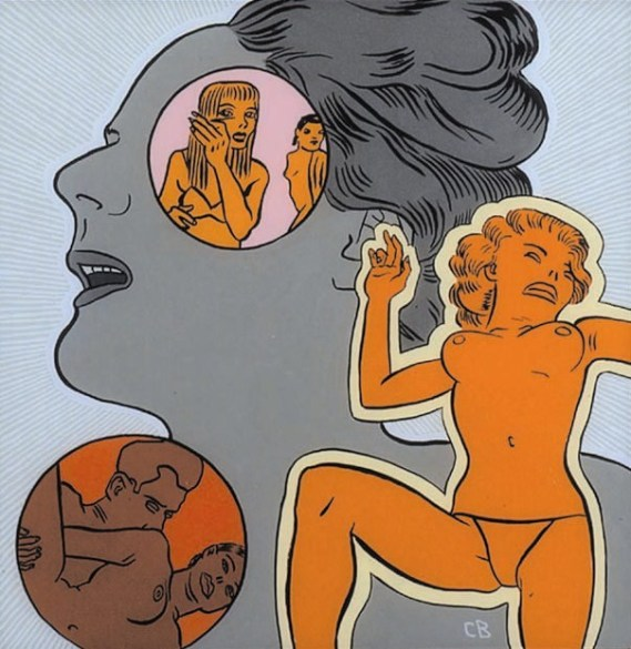 Conrad Botes, Everything is beautiful, tecnica mista su vetro, cm 60x60. Courtesy L'ARIETEartecontemporanea, Bologna