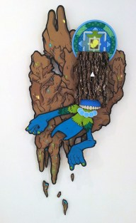 Antonio Gallini, tecnica mista su legno tridimensionale, 2013
