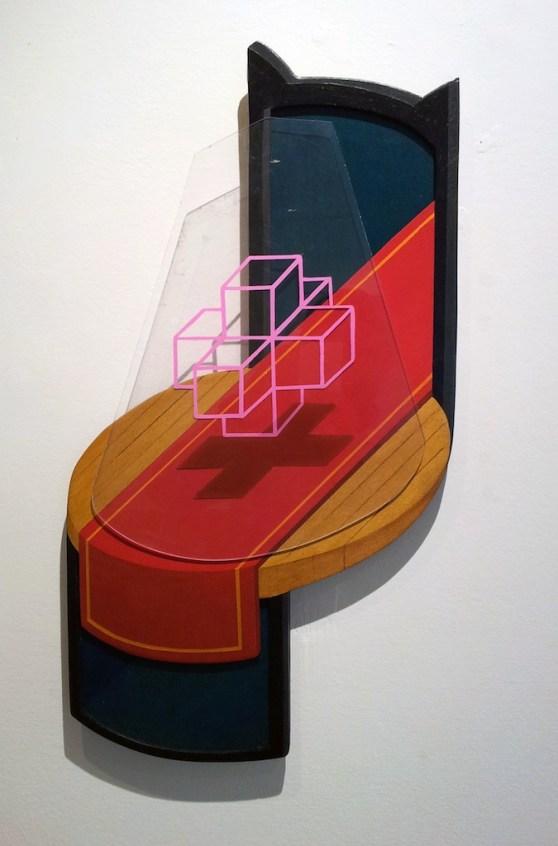 Axel Zani, spotlight, acrilico e smalto su legno e plexiglass, 2013