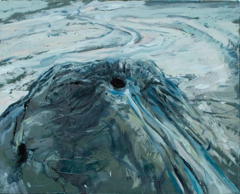 Luca De Angelis, Cratere secondario, 2013 olio su tela, 20x25cm