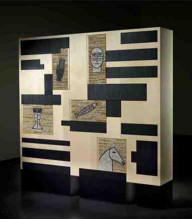 Mimmo Paladino, Scacco al Re, 2004, legno e mosaico, cm 150x150x30, 9 esemplari © GoriLab
