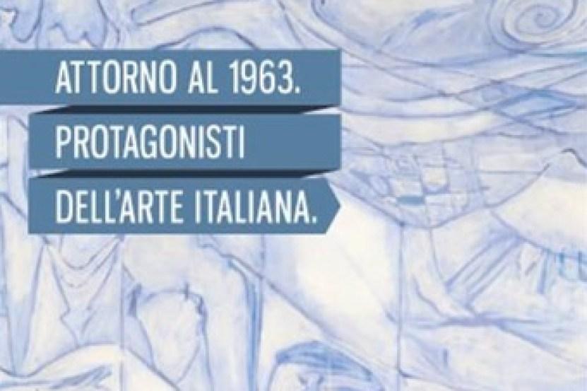 Attorno al 1963. Protagonisti dell'arte italiana, locandina dell'incontro (particolare), Gallerie d'Italia, Milano
