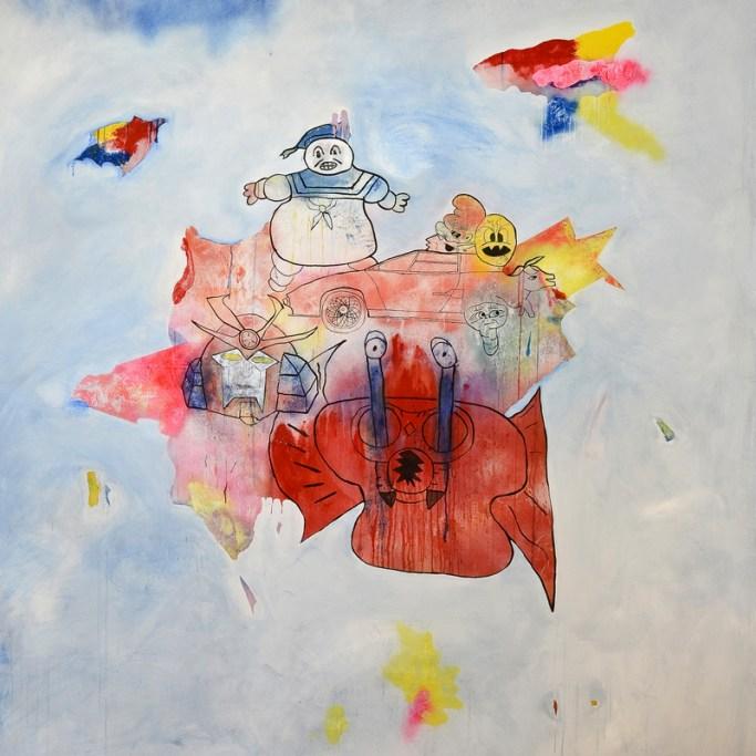 Alfano, Odyssey, 2010, acrilico e spray su tela