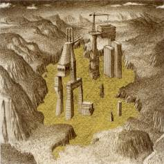 Ettore Tripodi, Le ultime parole di Babele, 2013, china e foglia d'oro su carta, 30x30 cm Courtesy Studio d'Arte Cannaviello
