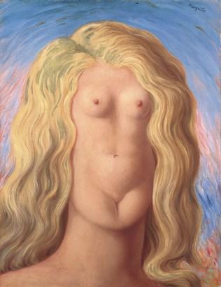René Magritte, Lo stupro, 1945, olio su tela, 65.3x50.4 cm (AM 1987-1097) © Centre Pompidou, MNAM-CCI / Christian Bahier et Philippe Migeat / Dist. RMN-GP