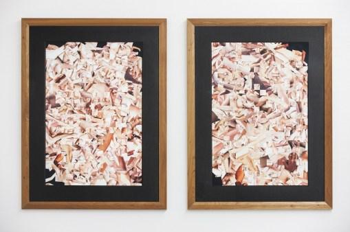 Monica Bonvicini, Legscutout, 2013, collage, stampa special su carta special, 79x34 cm senza cornice Courtesy Galleria Massimo Minini, Brescia