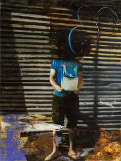 Giuseppe Gonella, Er, 2013 acrilico su pvc, 240 x 170 cm