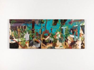 L. Moscariello, Congeria, 2013, tm su tavola, cm. 70x180. Foto: Dario Lasagni