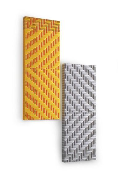 Mimmo Iacopino, Misure morbide diagonali (dittico), 2013, cm 30x80 ciascuna Courtesy Galleria Melesi