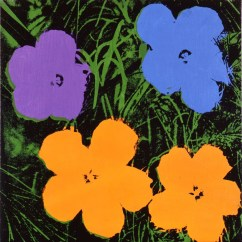 Andy Warhol, Flowers (purple, blue and orange), 1964, Collezione Brant Foundation © The Brant Foundation, Greenwich (CT), USA © The Andy Warhol Foundation for the Visual Arts Inc. by SIAE 2013