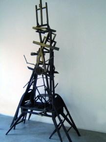 Aldo Mondino, Eiffel, 1989, bronzo, cm 330x160x95