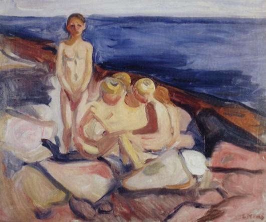 Edvard Munch, Bagnanti 1904-1905 olio su tela, 57,4 x 68,5 cm Collezione privata © Munch Museum © The Munch Museum : The Munch-Ellingsen Group by SIAE 2013