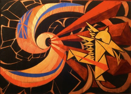 Giacomo Balla La Guerra (The War), 1916 olio e collage su cartone/oil and collage on cardboard 64x94 cm UniCredit Art Collection © Giacomo Balla, by SIAE 2013