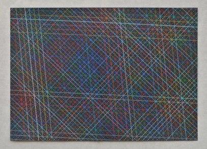 Tamás Jovánovics, '1cmSeries - Bonjour Monsieur Monet', 2013, color pencil on paper, 29.7x42 cm