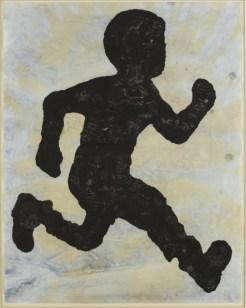 Donald Baechler, Runner, 2005, gouache e tea su carta