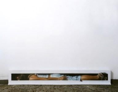 Matteo Tenardi, Passageway #7, 2012, olio e tempera su tavola, -cm. 200x27x7