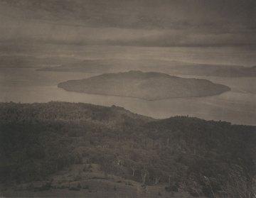 Takeshi Shikama, Silent Respiration of Forests - Hokkaido. Bihorotage, 2011, platinum print on Gampi paper, Ed.9, cm 20.3x25.4