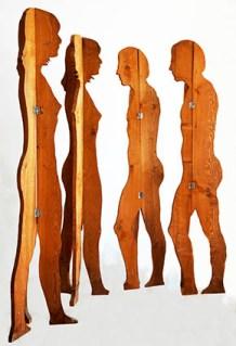 Mario Ceroli, L'aria di Daria, 1968, sagome di legno, 173x45 cm circa