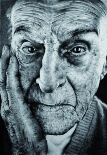 ANTONIO FINELLI - Autoritratto, litografia, 19x28cm, 2010