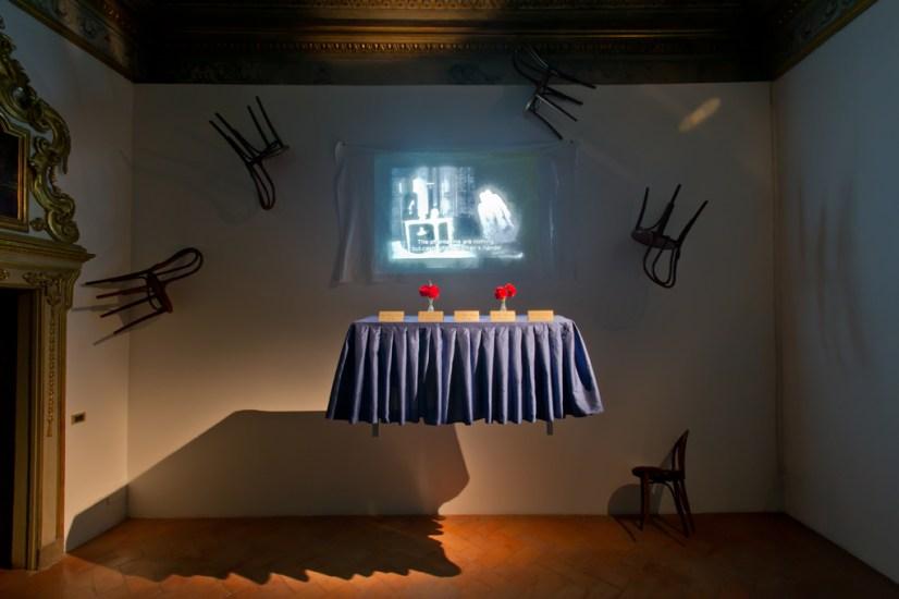 Chiara Fumai, La donna delinquente (The criminal woman), veduta dell'installazione, stanza II, A Palazzo Gallery, Brescia