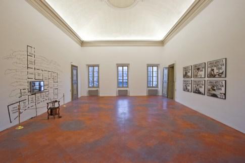 Chiara Fumai, veduta dell'installazione, stanza IV e V, A Palazzo Gallery, Brescia