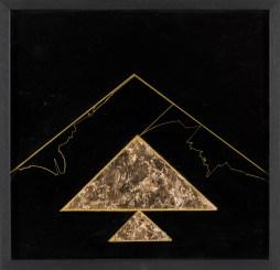 Gino De Dominicis, Urvasi e Gilgamesh, 1987, tempera su tavola e oro, cm. 51x53