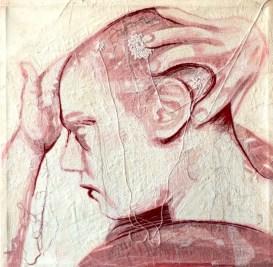 ILARIA MARGUTTI - Mend of me, ricamo su tela, 50x50cm, 2009