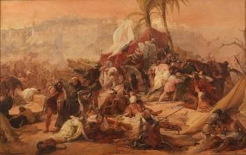 Francesco Hayez, La sete patita dai primi crociati a Gerusalemme, 1833-38, olio su tela, 58x91 cm, Collezione privata