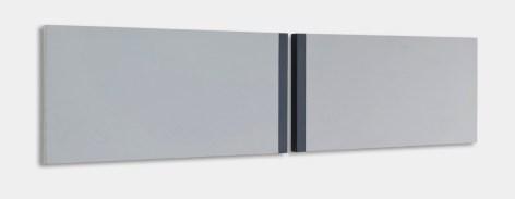 Arjan Shehaj, Il tempo, 2013, acrilico su tela-160x40x3cm Courtesy Alessio Moitre
