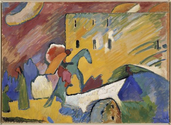 Vassily Kandinsky, Improvisation III (Improvvisazione III), 1909, olio su tela, 94x130 cm Donazione Nina Kandinsky, 1976 © Centre Pompidou, MNAM‐CCI /Adam Rzepka / Dist. RMN‐GP © Vassily Kandinsky by SIAE 2013