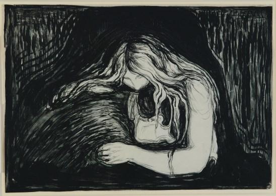 Edvard Munch, Vampire II, 1895, pietra litografica, inchiostro e raschietto, stampata da Clot, Parigi, 38.7x56 cm, Ars Longa, Collezione Vita Brevis © The Munch Museum / The Munch-Ellingsen Group by SIAE 2013