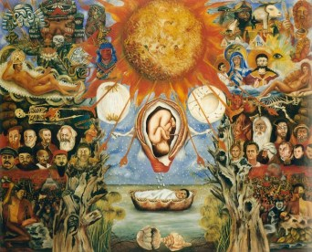 Frida Kahlo Moses o Nucleo Solare, 1945 Olio su tavola, cm 61 x 75,6 (IN MOSTRA SOLO A ROMA) Collezione Privata © Banco de México Diego Rivera & Frida Kahlo Museums Trust, México D.F. by SIAE 2014