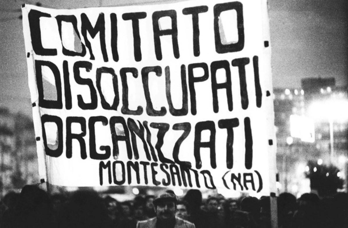Uliano Lucas, Corteo dei disoccupati organizzati, Napoli, 1976, Vintage Courtesy Archivio Uliano Lucas, Milano / Ca' di Fra', Milano