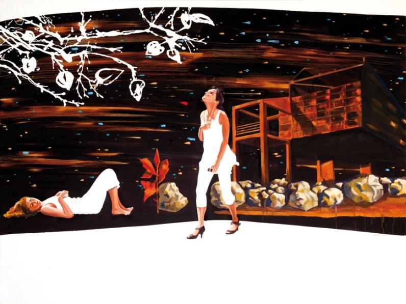 Corrado Zeni, Atlas, 2013, oil, acrylic, and enamel on canvas, cm120x160