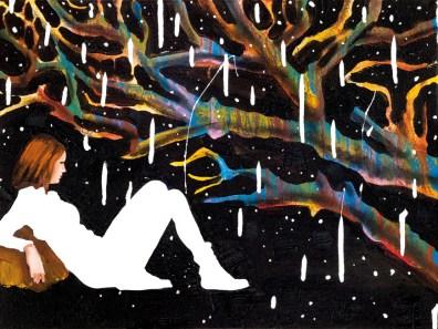 Corrado Zeni, Atlas, 2013, oil, acrylic, collage and enamel on canvas, cm 30x40