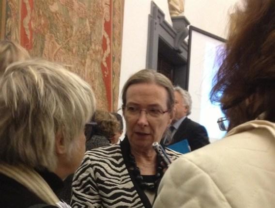 Helga Prignitz-Poda, la curatrice delle mostre alla conferenza stampa di presentazione di Roma