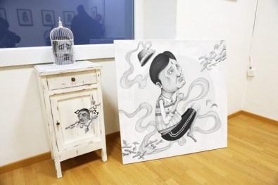 SeaCreative, Sogni di Grigio, installation view della mostra da ego gallery, Lugano