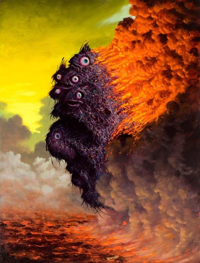 Fulvio Di Piazza, My head is on fire, 2013, olio su tela, 40x30 cm