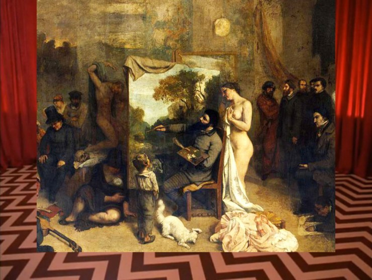 Luigi Presicce, Allegoria astratta dell'atelier del pittore all'inferno tra le punte gemelle