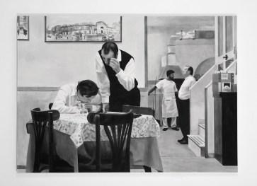 P. Timoney, Capass, 2010, china su tela, 196x140 cm, Collezione Privata, Milano, Photo © Enzo Velo