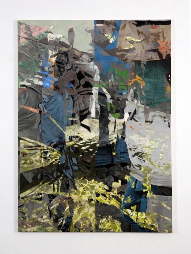 P. Timoney, Untitled 2010 olio, acrilico e rilevatore fotografico su tela 154x213 cm Collezione Privata, Napoli, Photo © Enzo Velo