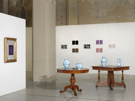 Vincenzo Marsiglia. Riflessione interattiva (veduta della mostra), Ex Chiesa S.Pietro in Atrio, Como Foto di Dario Lasagni