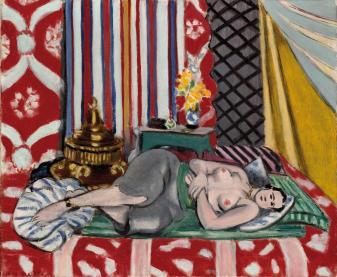 Henri Matisse, Odalisca con i pantaloni grigi, 1926-27, olio su tela, 54x65 cm, Musée de l'Orangerie, Parigi © Succession H. Matisse by SIAE 2013
